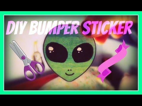 DIY BUMPER STICKERS