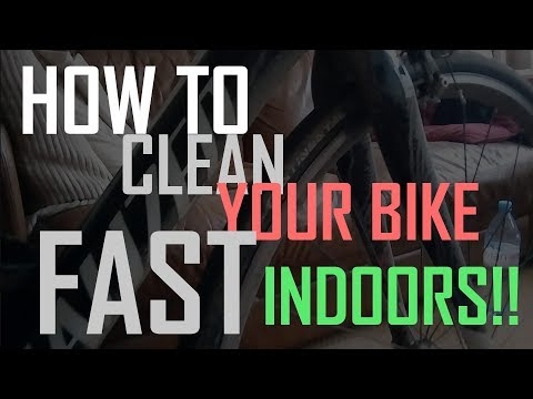 How to clean your bike fast indoors