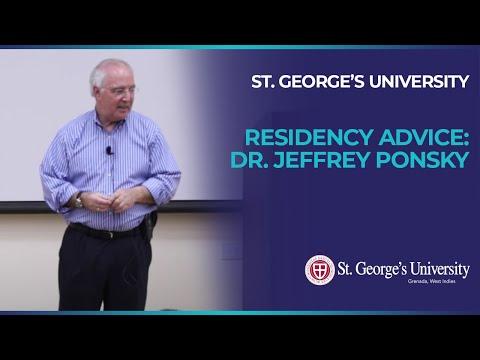 Residency Advice:  Dr. Jeffrey Ponsky