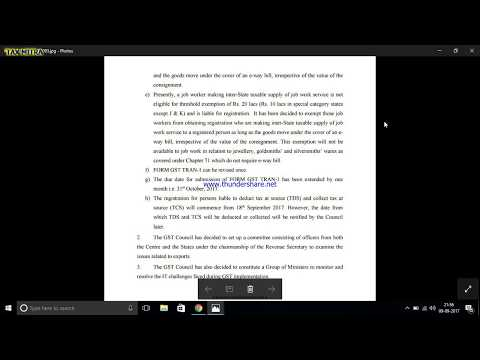 GST 21 COUNCIL METING  FULL UPDATE WITH EXPLANATION