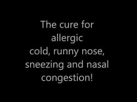Cure for allergic cold, runny nose, sneezing and nasal congestion