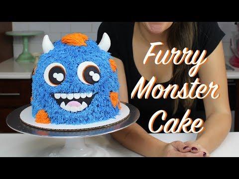 Furry Monster Cake | CHELSWEETS