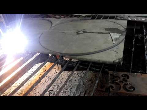 SS 40 mm thick plate cutting