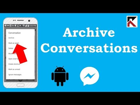 How To Archive Conversations In Facebook Messenger Android