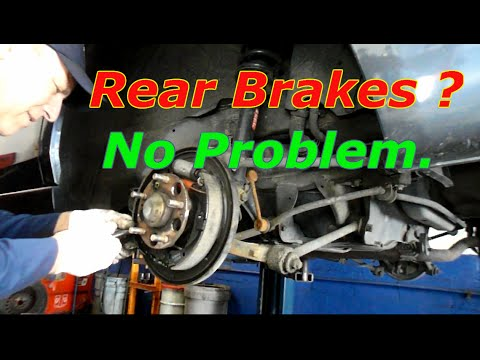 How to replace rear brakes on a 2003 Honda Accord