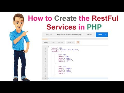 How to Create the RestFul services in PHP