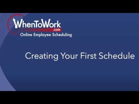 - Creating your First Schedule*