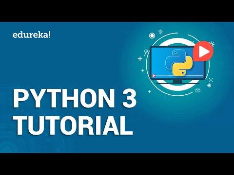 Python 3 Tutorial | Python Programming for Beginners | Python 2 vs 3 | Python Training | Edureka