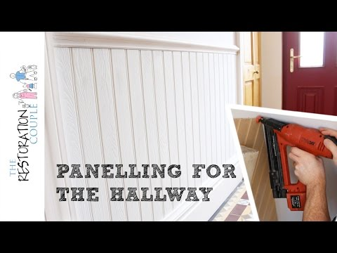 Panelling a Wall using Matchboard | Hall, Stairs and Landing