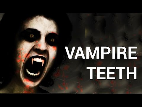How to Make Vampire Teeth in Photoshop
