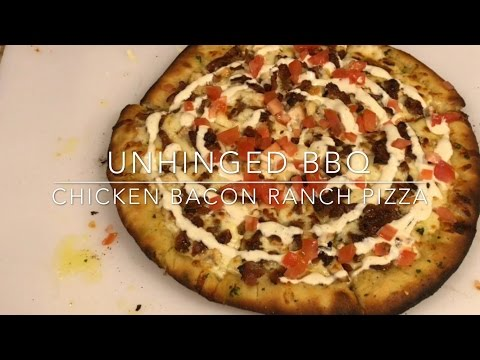 Chicken Bacon Ranch Pizza Recipe on the Traeger & Akorn Kamado | ubbq