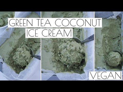 MATCHA GREEN TEA COCONUT ICE CREAM | VEGAN RECIPE