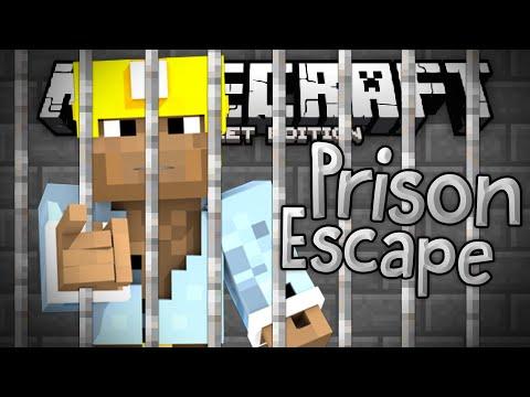 ROBBING MY FIRST BANK!!! - Prison Break Adventure Map - Minecraft PE (Pocket Edition)