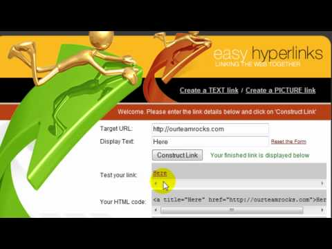 How To Hyper Link Your Text  And Make It Clickable!!