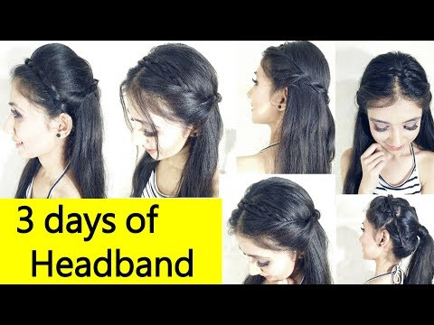 Cute & Easy 2 Min Everyday Headband Braid For School, College, Work | 3 days of Headband