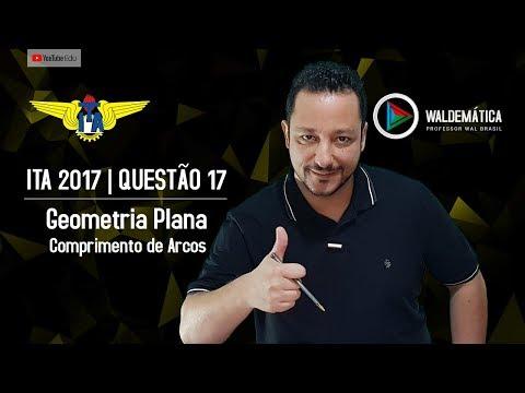 ITA 2017 (Q.17) | COMPRIMENTO da CORREIA - Geometria Plana | Waldemática