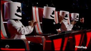 Marshmello  Bastille Perform Happier On The Voice