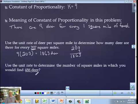 Lesson 7 Unit Rate as the Constant of Proportionality
