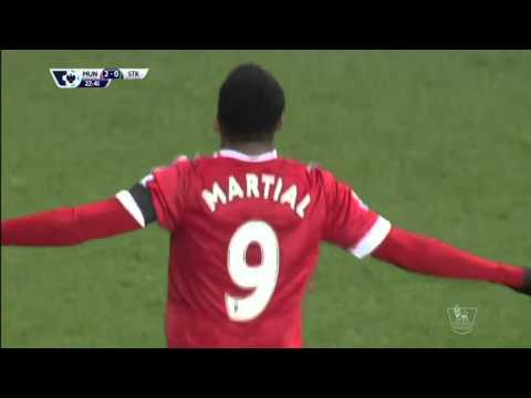 Manchester United vs Stoke City 3-0 All Goals and Highlights
