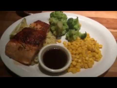 Cheddars Bourbon Glazed Salmon Review Mukbang