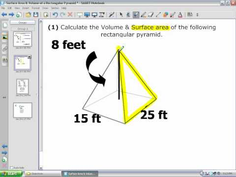 Surface Area & Volume of a Rectangular Pyramid.wmv