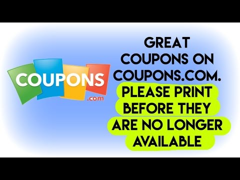 Great Coupons To Print on coupons.com