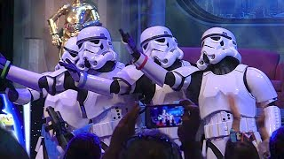 "Stormtroopers sing ""Let It Go"" from Frozen in song medley at Star Wars Weekends 2014"