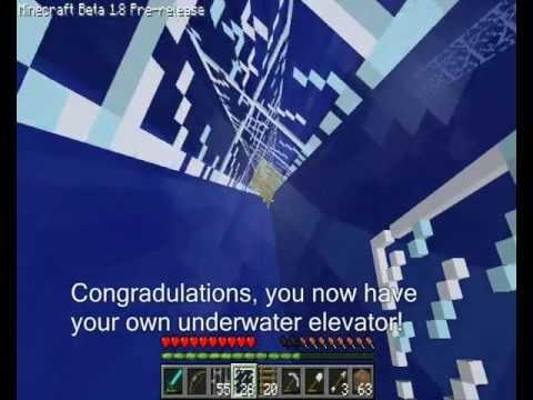 [MC] Glass Pane Underwater Elevator