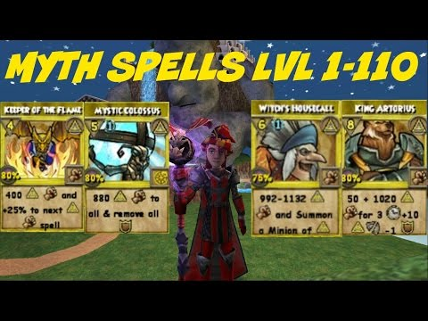 Wizard101: All Myth Spells Level 1-110