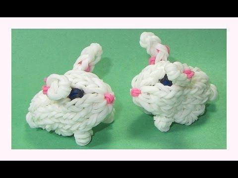 Rainbow Loom Charms 3D Bunny (Crazy Loom / bands Fun Loom)