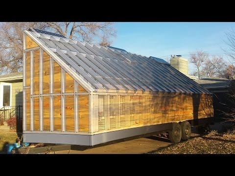 4k HD: The mobile solar wood kiln big reveal.