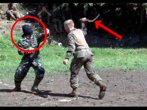 WALAU DENGAN MATA TERTUTUP, Marinir Indonesia tetap menang melawan Marinir Amerika.