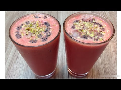 Rooh Afza Watermelon Energy Drink - Rooh Afza Tarbooz Ka Sharbat - special Ramadan Drink