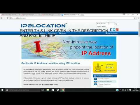 HOW TO TRACE LOCATION OF EMAIL 100% WORKING(ABSOLUTELY FREE)