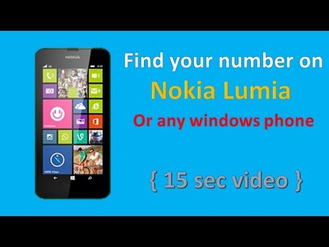 How to find your phone number on Nokia lumia (14 second video)