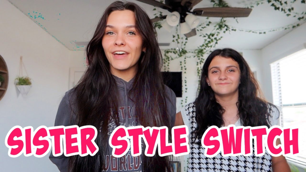 CHANGING MY SISTERS STYLE TO MINE! OUTFIT RATINGS! EMMA AND ELLIE