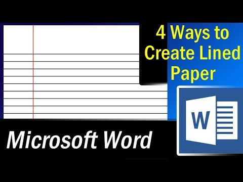 4 Easy ways to create lined paper in MS Word – Microsoft Word Tutorial