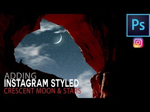 How To Add An Instagram Styled Moon and Stars In Photoshop