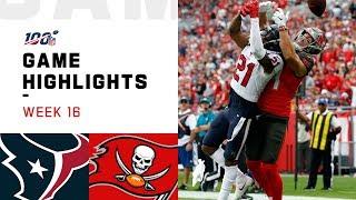 Texans vs. Buccaneers Week 16 Highlights | NFL 2019