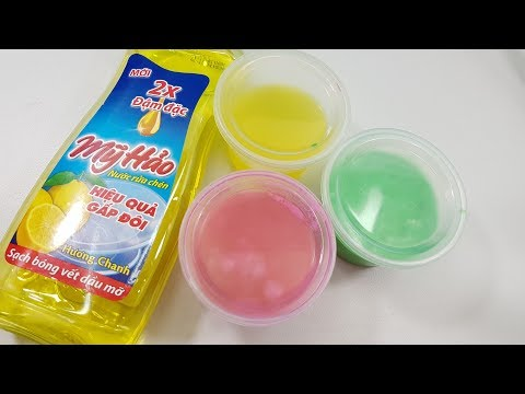 MUST TRY!! 4 Ways Dish Soap Slime, DIY 4 Ways No Glue Dish Soap Slime, No Borax