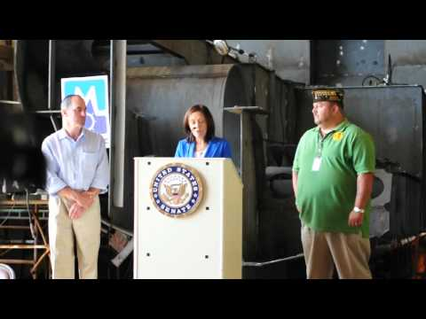 Painters Union, DC5 Seattle at Martinac Shipyard Senator Maria Cantwell Speaks