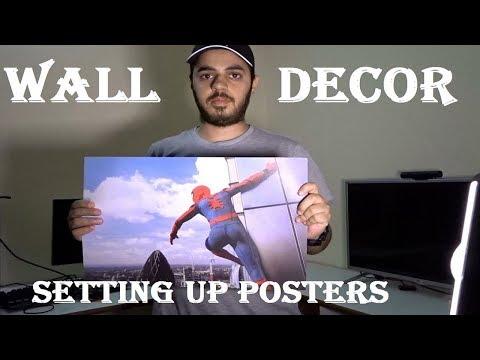 Poster Stamping WALL DECOR | Vlog | HINDI |