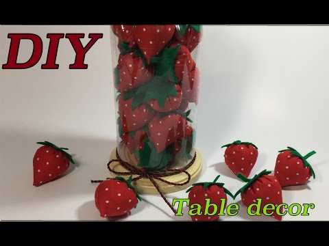 DIY Strawberry Table Decor / How to Make a Table Decor  #54