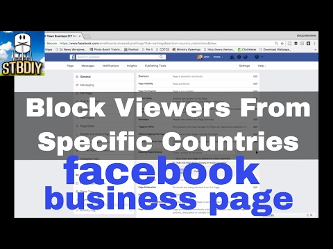 Block Or Allow Regions or Countries To Your Facebook Business Page | Small Town Business DIY