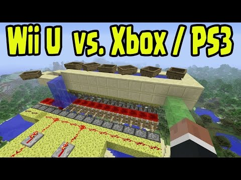 Minecraft Wii U vs PS3/Xbox360 - Title Updates, Features, Multiplayer, Controls, + MORE