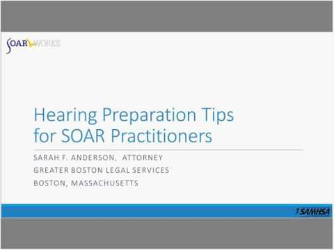 SOAR Webinar: Hearing Tips for SOAR Practitioners
