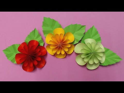 How to Make Flower with Color Paper | DIY Paper Flowers Making