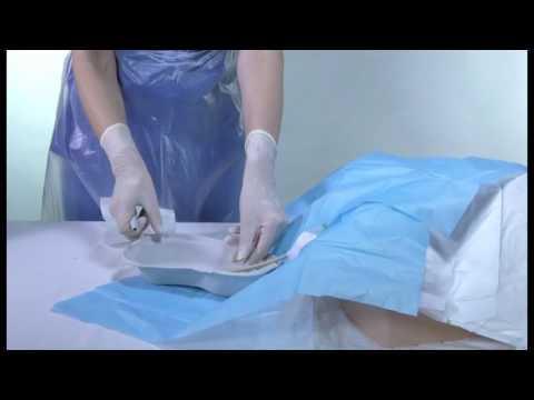 How to flush a urinary catheter