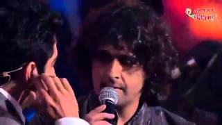 Sonu Nigam, Mika and Ayushman performing the Jai Mata Di Medley- Royal Stag Mirchi Music Awards