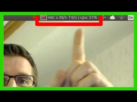 Ubuntu 14.04 16.04 - Indicator für Upload- und Download-Speed CPU Auslastung oben im Panel [german]